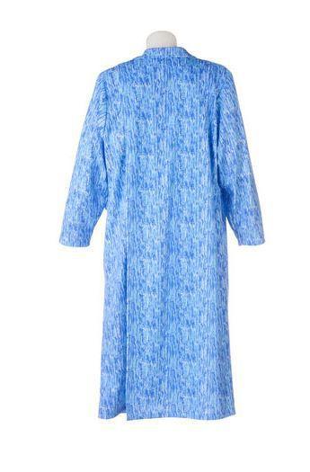 Underlap crosses over the back for dignity in nursing home dressing