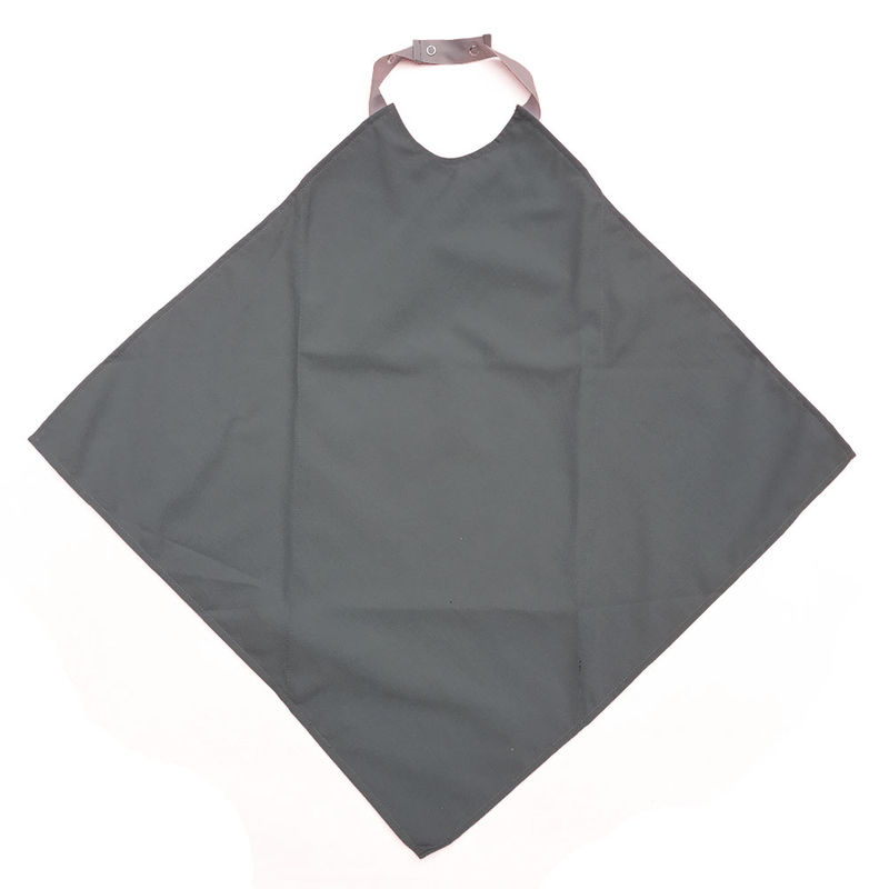 Grey Napkin Waterproof Adult Bib / Clothing Protector