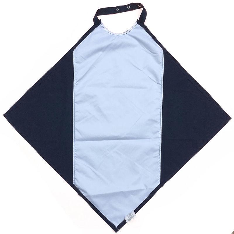 Navy Napkin Waterproof Adult Bib / Clothing Protector