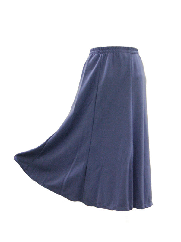 Elastic waist skirt for comfortable sitting in aged care facilities