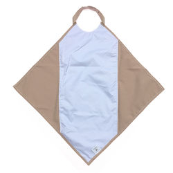 Beige Napkin Waterproof Adult Bib / Clothing Protector
