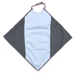 Grey Napkin Waterproof Adult Bib / Clothing Protector