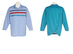 Mens Petal Back Adaptive Polo Long Sleeve