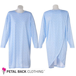Petal Back Adaptive Nightie Long Sleeve