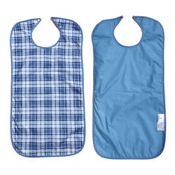 Scottish Blue Waterproof Adult Bib / Clothing Protector